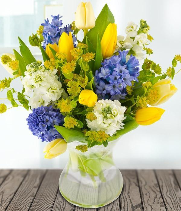 Spring Flower Vase Lavenders Blue Aylsham Norfolk